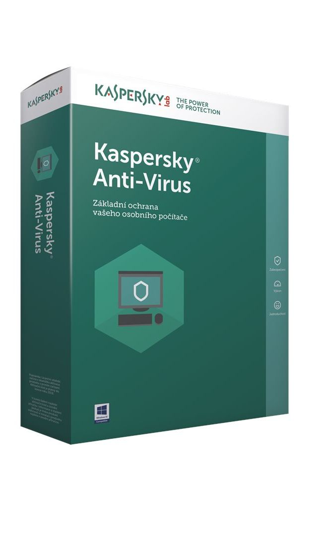 Kaspersky Anti-Vírus 1 PC na 1 rok