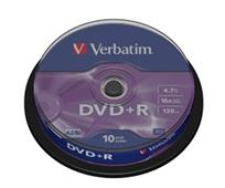 DVD + R médium    4,7 GB 16x 10ks/bal.   Verbatim